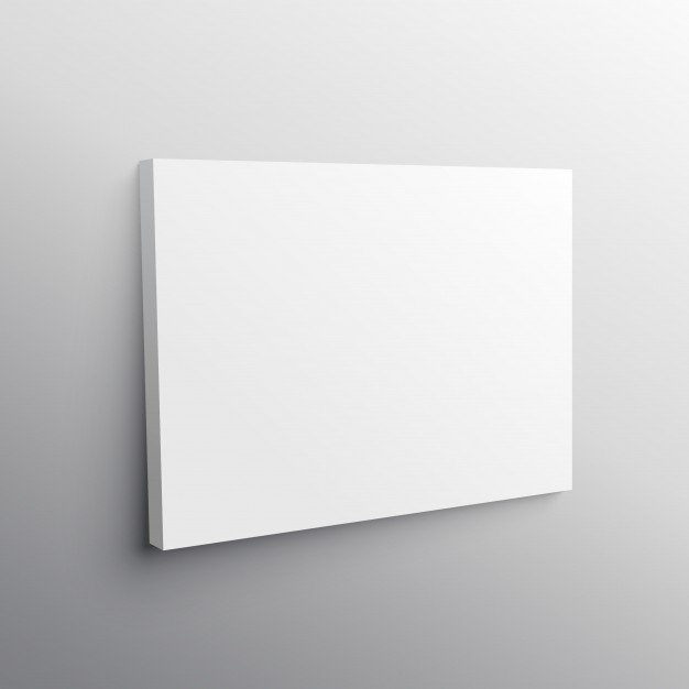 Empty Canvas Mockup Vector | Free Download Inside Mockup Canvas Wall Art (Image 12 of 15)