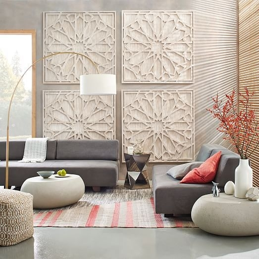 Endearing Large Wall Decor For Living Room Best Ideas About Large In Large Fabric Wall Art (Image 4 of 15)