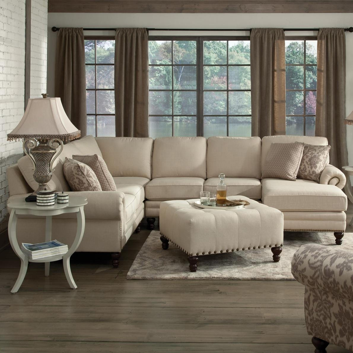England Amix Six Seat Sectional With Right Chaise | Dunk & Bright in England Sectional Sofas