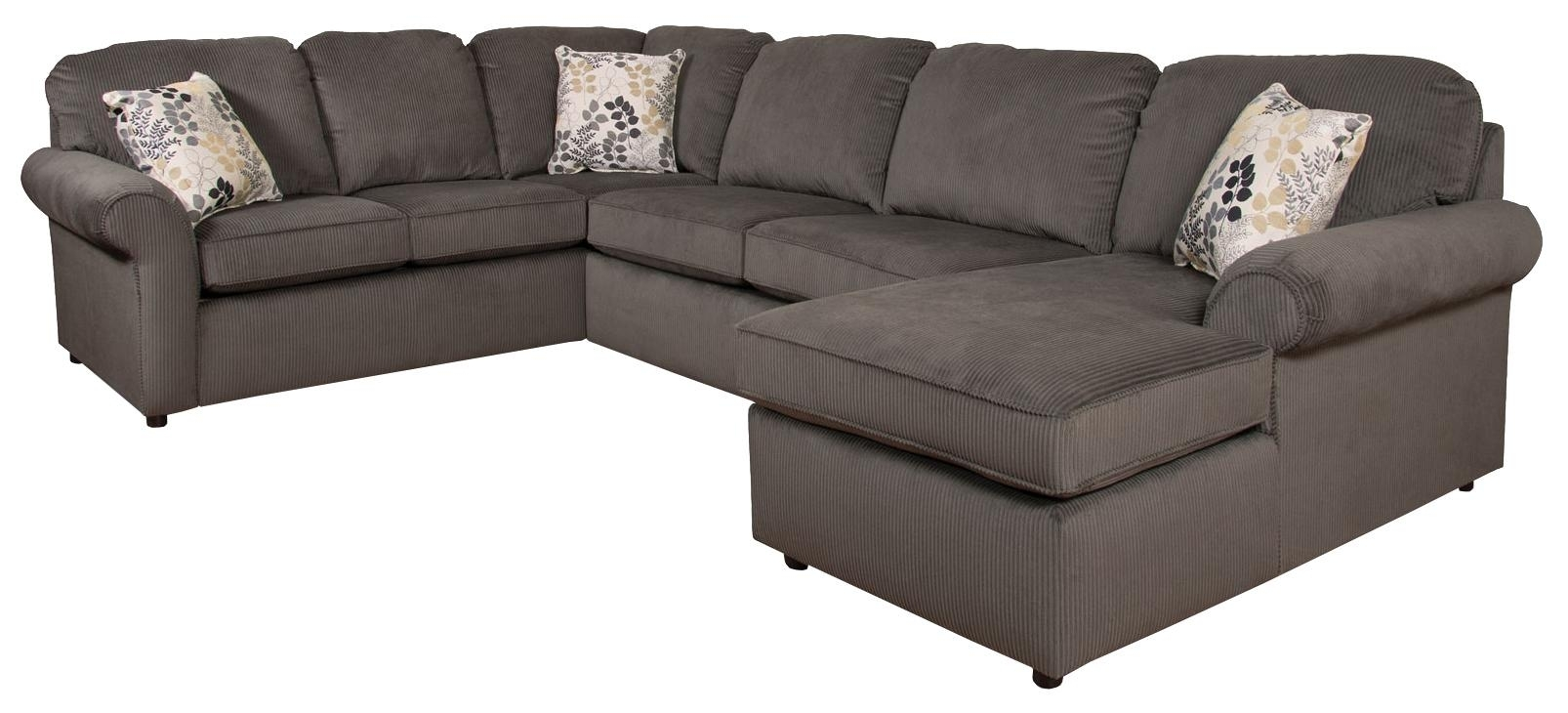 England Malibu 5 6 Seat (Right Side) Chaise Sectional Sofa | Dunk For England Sectional Sofas (View 4 of 10)