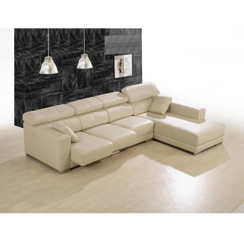 Enzo Leather Sectional Sofa | Modern Sectional Sofas Vancouver Throughout Vancouver Sectional Sofas (Image 5 of 10)