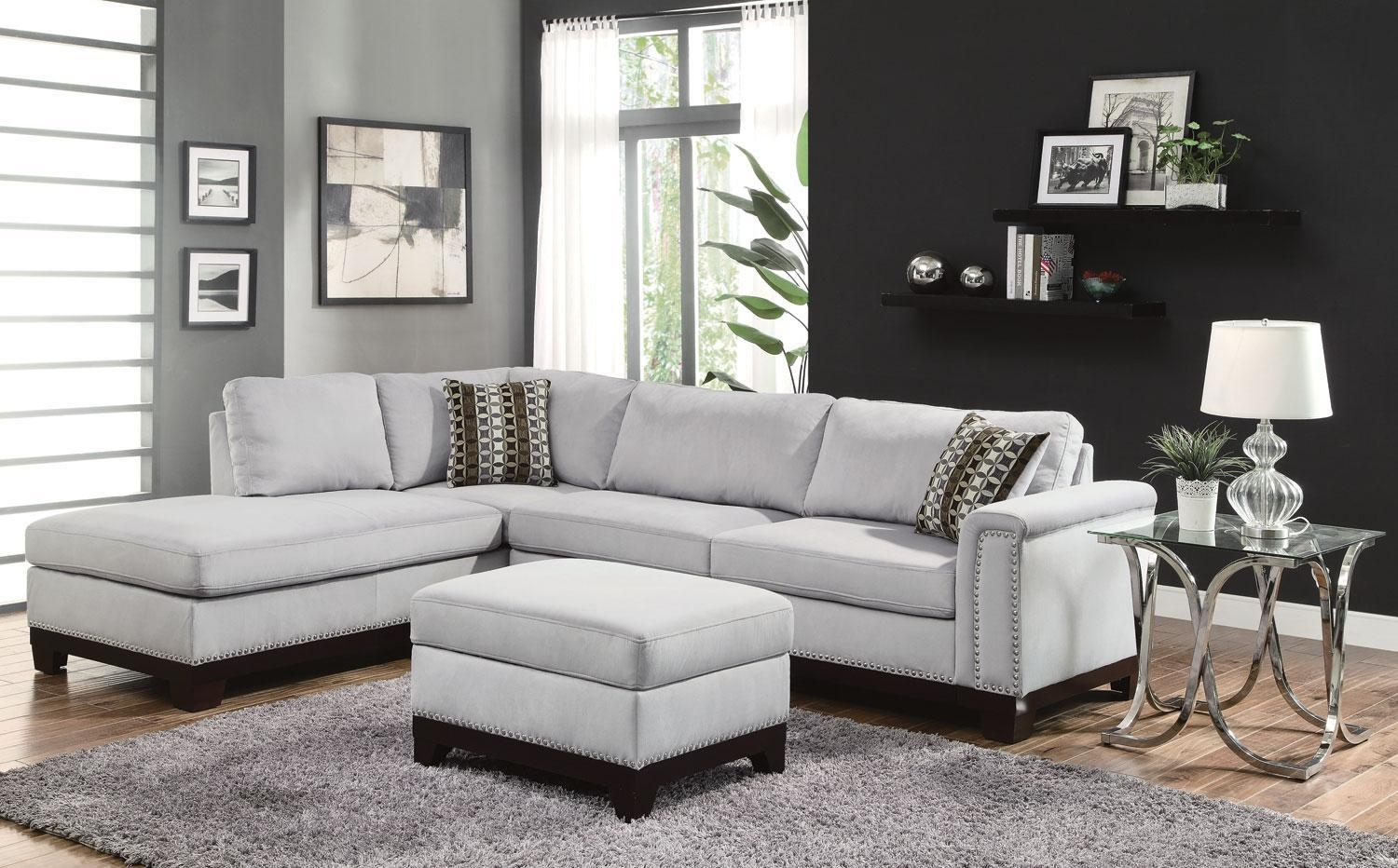 Epic Sectional Sofa With Nailhead Trim 17 In Office Sofa Ideas With With Sectional Sofas With Nailheads (Image 2 of 10)