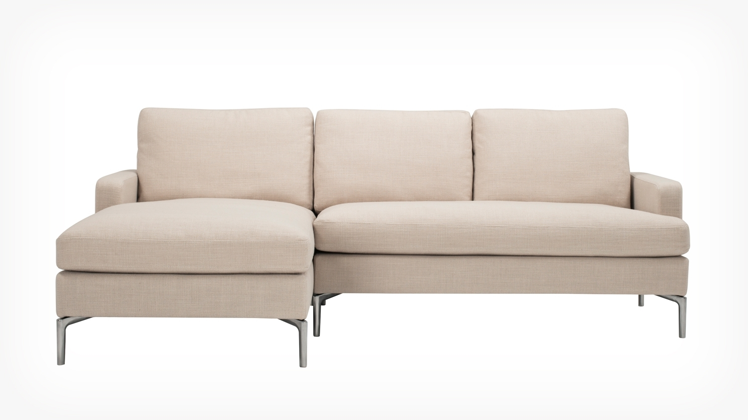 Eq3 | Eve Classic 2 Piece Sectional Sofa With Chaise – Fabric Throughout Eq3 Sectional Sofas (Image 2 of 10)