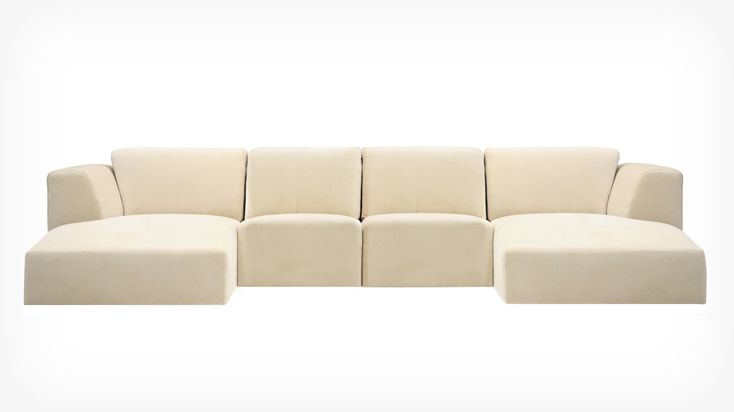 Eq3 | Morten 4 Piece Sectional Sofa With Chaise – Fabric Throughout Eq3 Sectional Sofas (View 8 of 10)