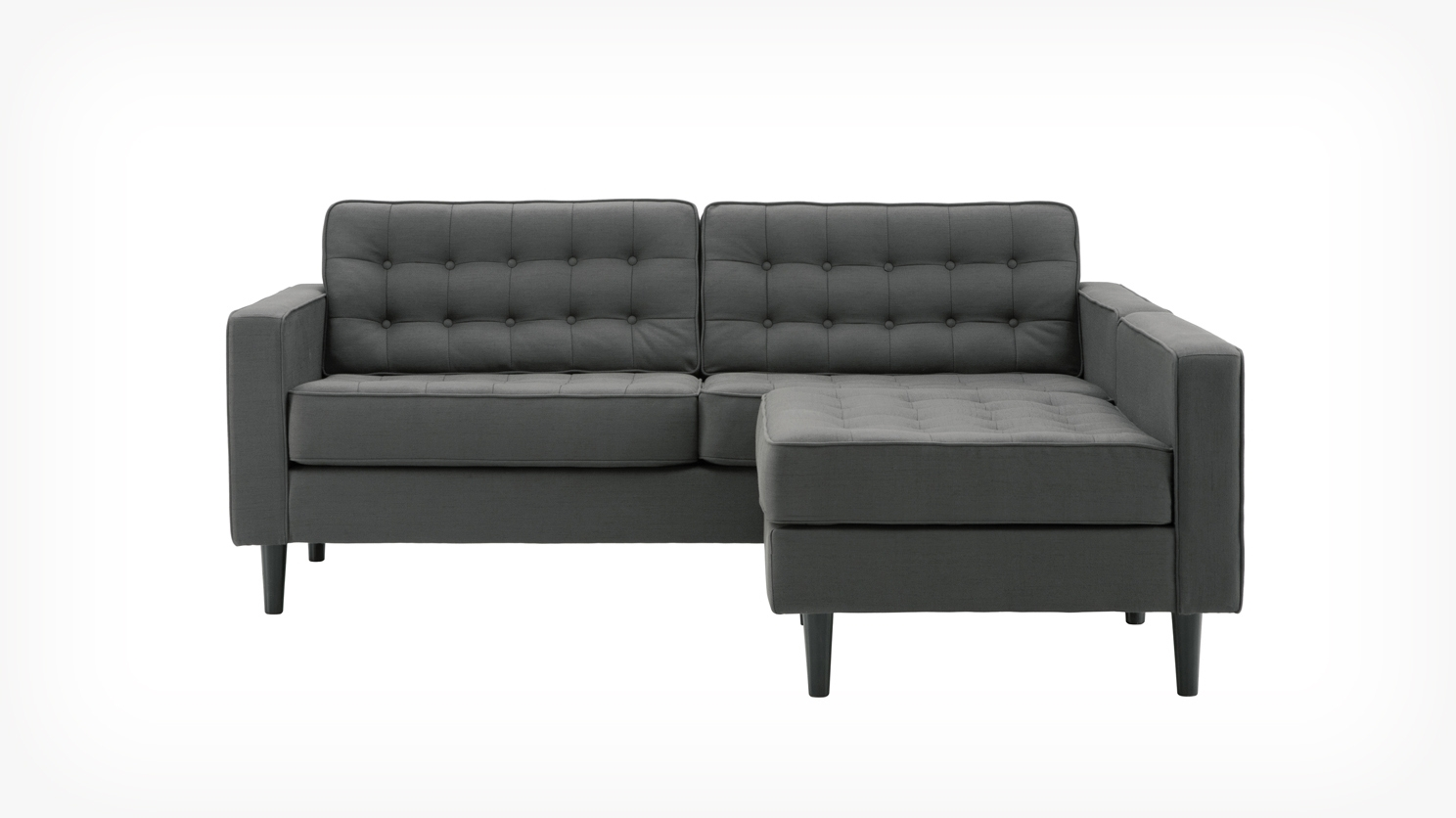 Eq3 | Reverie Apartment 2 Piece Sectional Sofa With Chaise – Fabric Regarding Apartment Sectional Sofas With Chaise (Image 5 of 10)