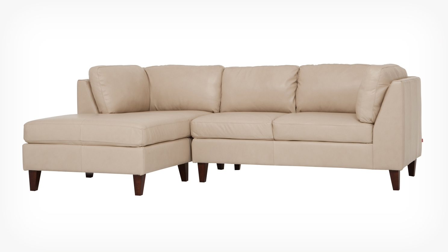 Eq3 | Salema 2 Piece Sectional Sofa With Chaise – Leather In Eq3 Sectional Sofas (Image 10 of 10)