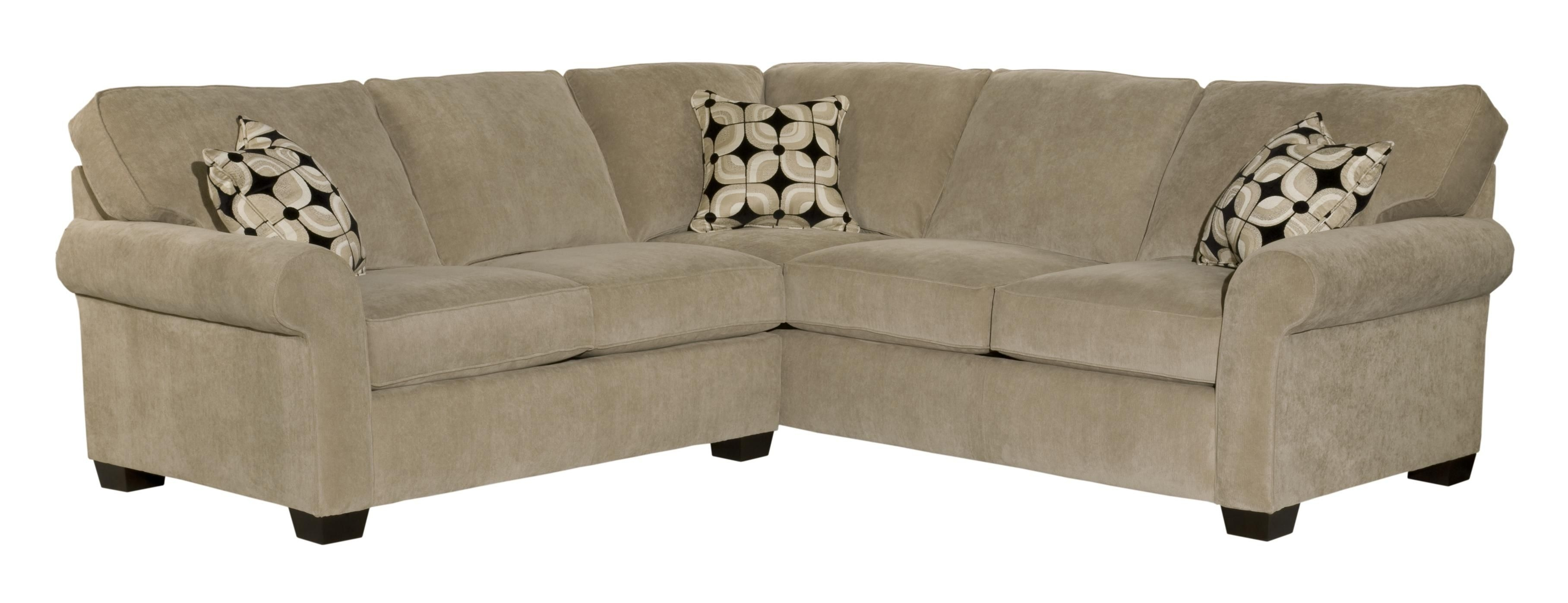 Ethan Two Piece Sectional With Corner Sofabroyhill Furniture Inside Sectional Sofas At Broyhill (Image 8 of 10)