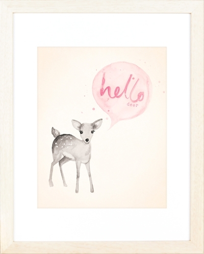 Etsy Find: Charming Animal Art Prints – Project Nursery With Regard To Framed Animal Art Prints (Image 9 of 15)
