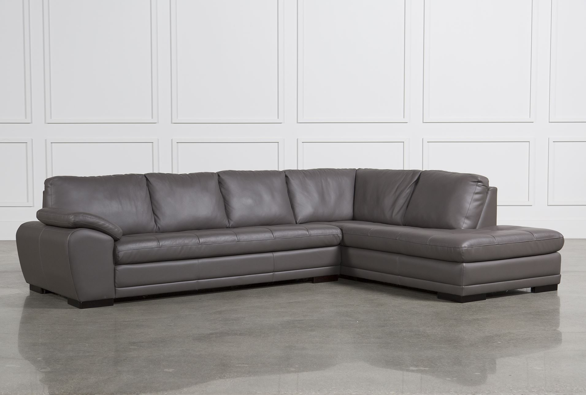Excellent Leather Sectional Sofas For Vaughn Granite 2 Piece Throughout Living Spaces Sectional Sofas (View 3 of 10)