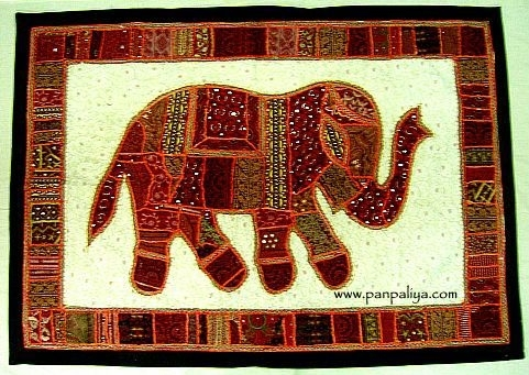 Exclusive Collection Of Wall Hanging Indian Tapestry With Elephant Inside Indian Fabric Wall Art (Image 3 of 15)