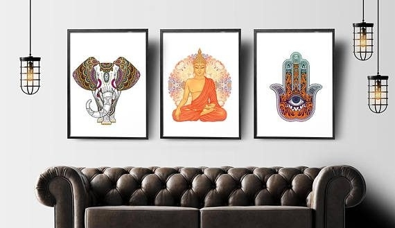 Exclusive Inspiration Buddha Wall Art With Best 25 Ideas On Intended For Next Canvas Wall Art (Image 5 of 15)