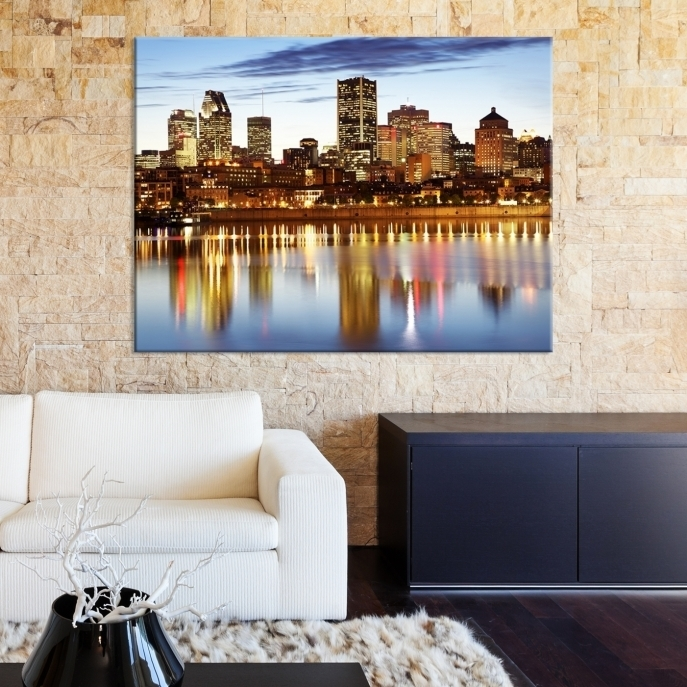 Extra Large Wall Art Montreal Canvas Print – Montreal Skyline In Montreal Canvas Wall Art (View 7 of 15)