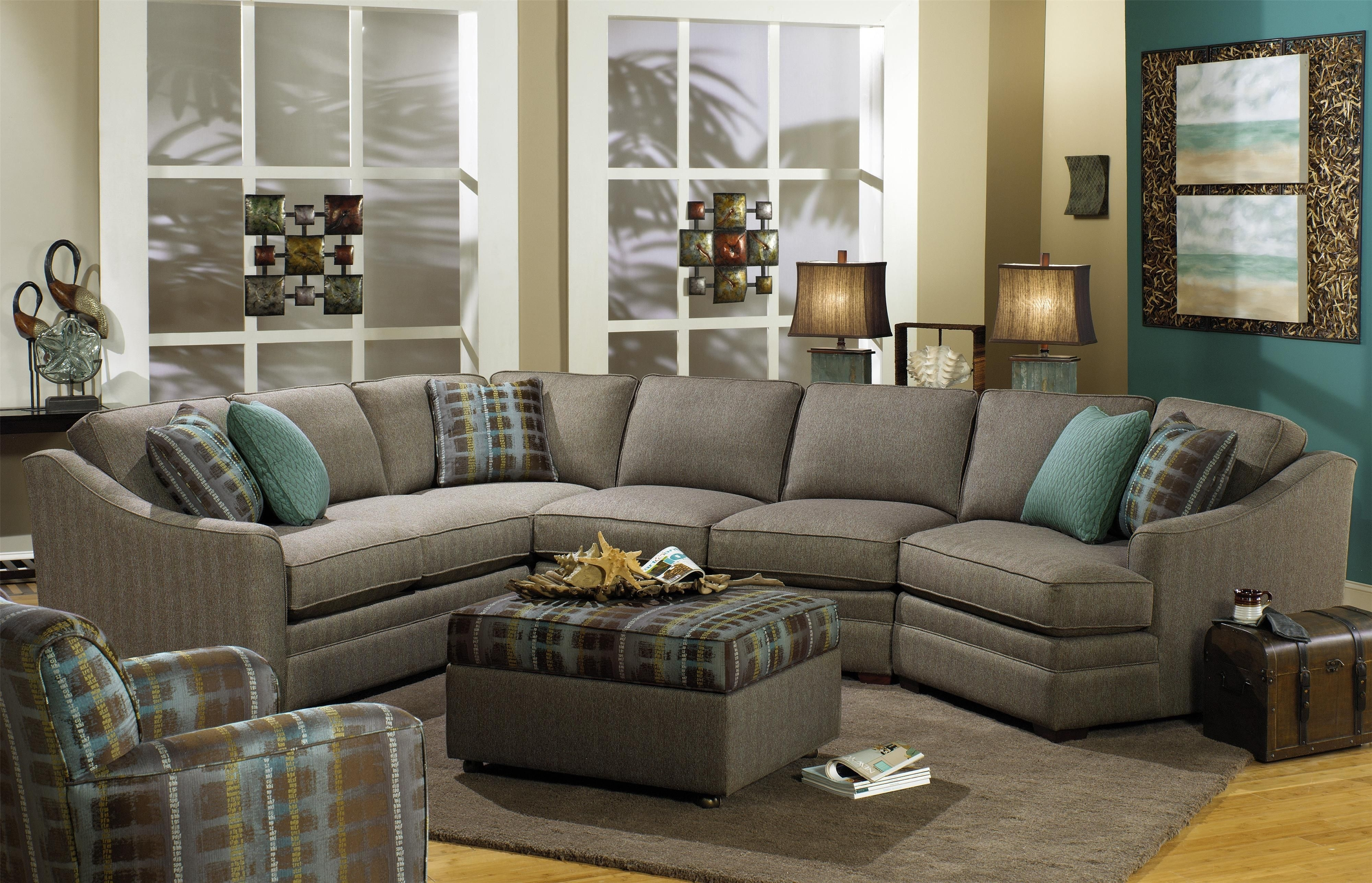 F9 Custom Collection Customizable 3 Piece Sectional With Laf Cuddler In Virginia Sectional Sofas (View 8 of 10)