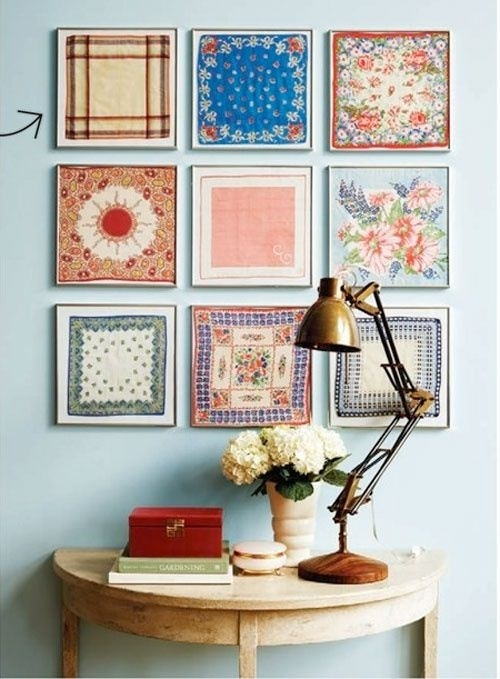 Fabric Art | Diy Art Projects | The Tao Of Dana Throughout Diy Framed Fabric Wall Art (Image 6 of 15)