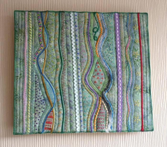 Fabric Art Wall Hanging Project Large Fabric Wall Art Cotton With Blue Fabric Wall Art (Image 7 of 15)