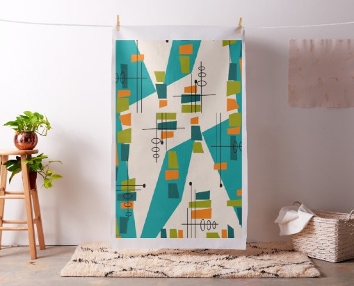 Featured Photo of Mid Century Textile Wall Art