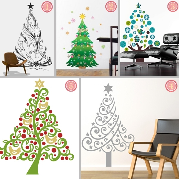 Fabric Christmas Tree Wall Stickers For Fabric Tree Wall Art (Image 6 of 15)