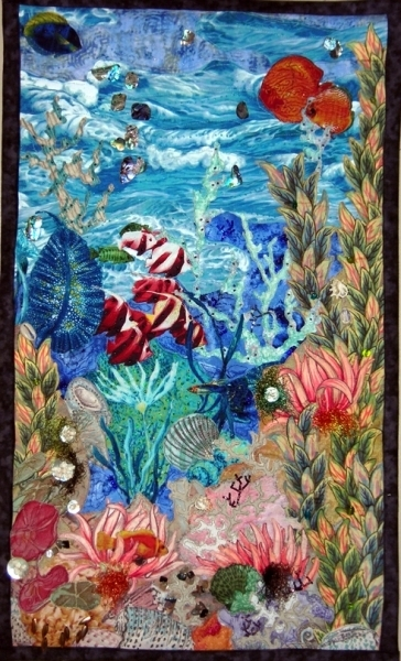 Fabric Collage Wall Hanging – Beautiful | Textile Art | Pinterest Within Fabric Collage Wall Art (View 10 of 15)