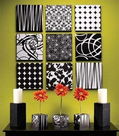 Fabric Covered Boxes Ideas | Forrándolas O Pintando Sobre Ellas With Fabric Wrapped Wall Art (Image 6 of 15)