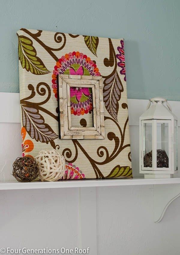 Fabric Diy Wall Art {Tutorial | Diy Wall Art, Diy Wall And Art Regarding Ikat Fabric Wall Art (Image 8 of 15)