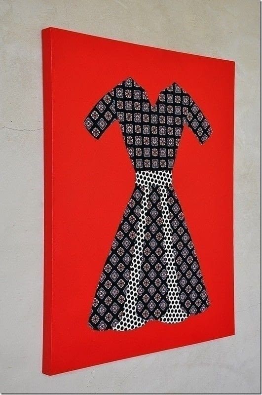 Fabric Dress Wall Art · How To Make A Piece Of Textile Art · Art With Fabric Dress Wall Art (View 2 of 15)