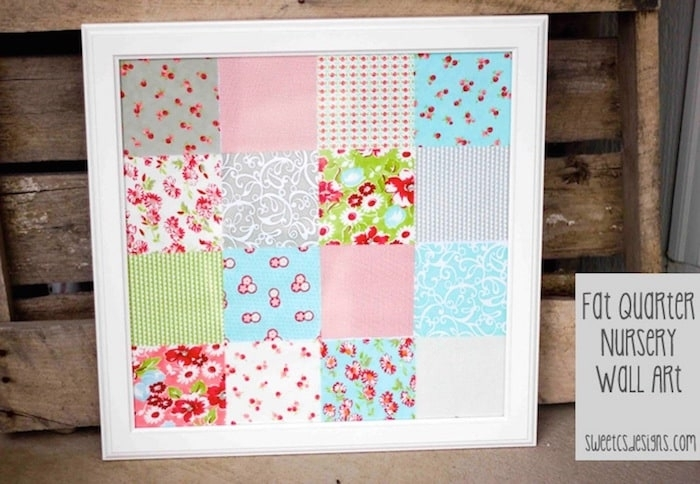 Fabric Nursery Wall Art – Mod Podge Rocks Intended For Childrens Fabric Wall Art (Image 6 of 15)