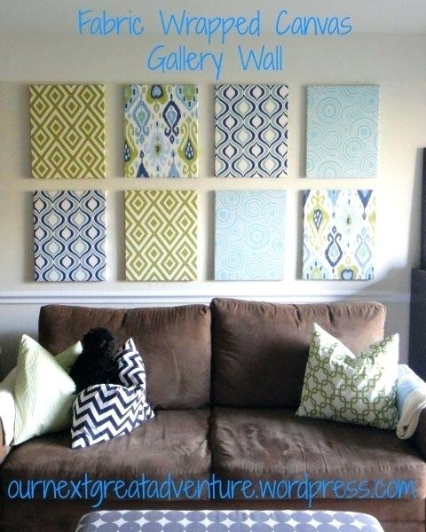 Fabric On Canvas Wall Art Diy 8 New Hacks From Stylists Fabric Within Canvas And Fabric Wall Art (Image 9 of 15)