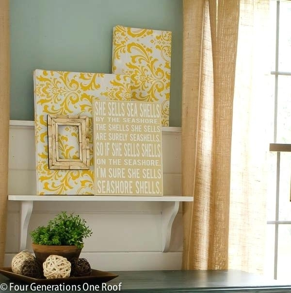 Fabric On Canvas Wall Art Diy Best Fabric Canvas Art Ideas On Inside Diy Fabric Covered Wall Art (View 14 of 15)