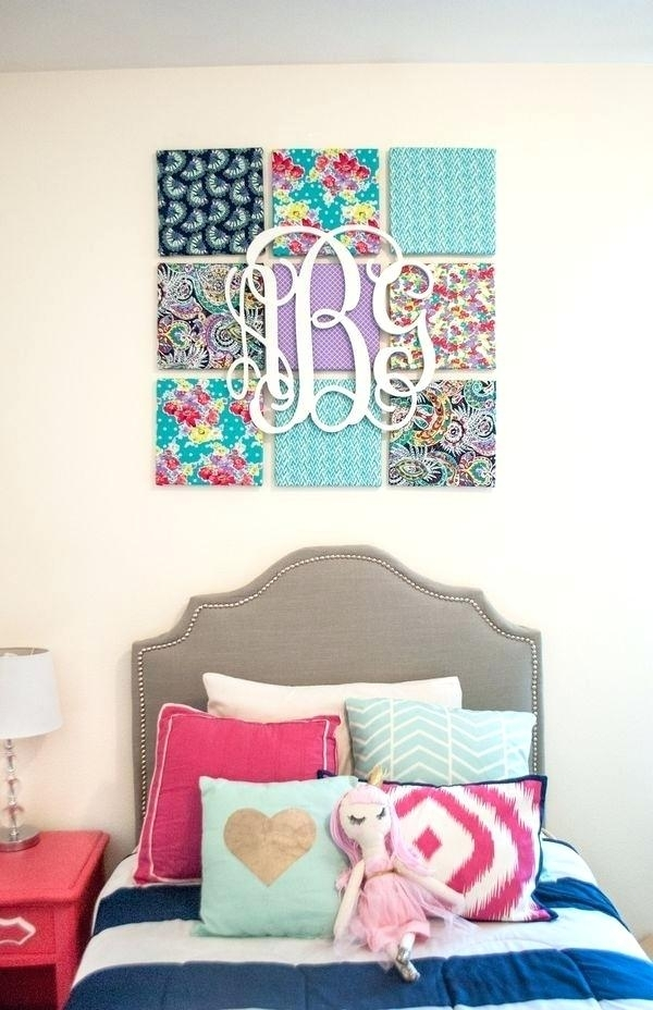 Fabric On Canvas Wall Art Diy How To Make Your Personal Custom With Regard To Personalized Fabric Wall Art (Image 8 of 15)