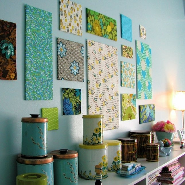 Featured Photo of No Sew Fabric Wall Art
