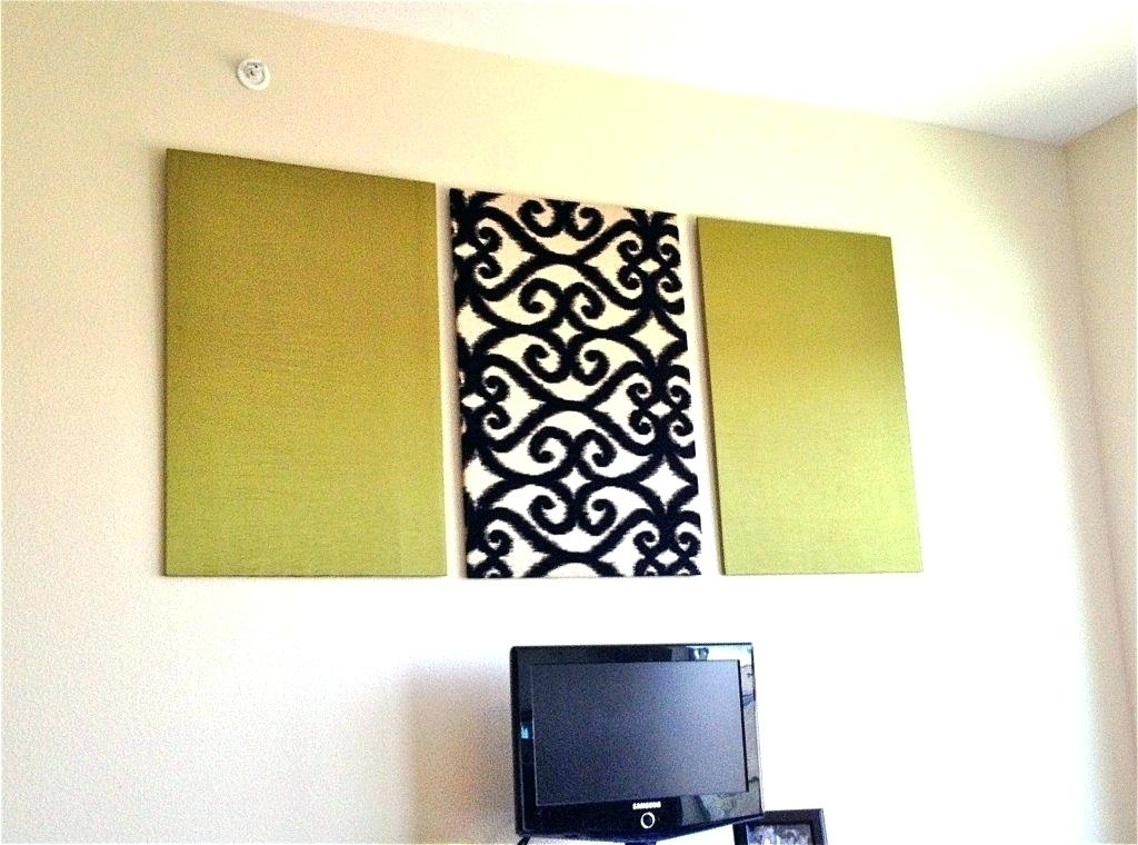 Fabric Panel Wall Art – Megaups Regarding Fabric Panel Wall Art With Embellishments (Image 4 of 15)