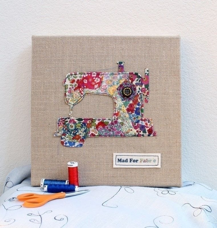 Fabric Scrap Art Tutorial · How To Make A Fabric Collage · Art On Throughout Fabric Collage Wall Art (Image 9 of 15)