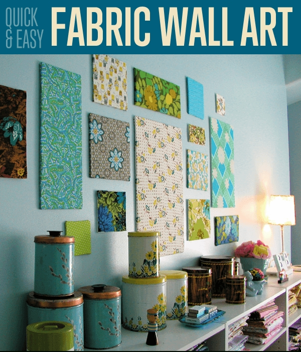 Fabric Wall Art Diy Projects Craft Ideas & How To's For Home Decor For Diy Fabric Wall Art (Image 6 of 15)