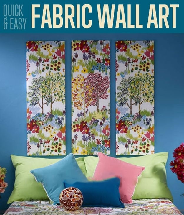Fabric Wall Art | Fabric Wall Art, Canvases And Fabrics With Homemade Wall Art With Fabric (View 3 of 15)