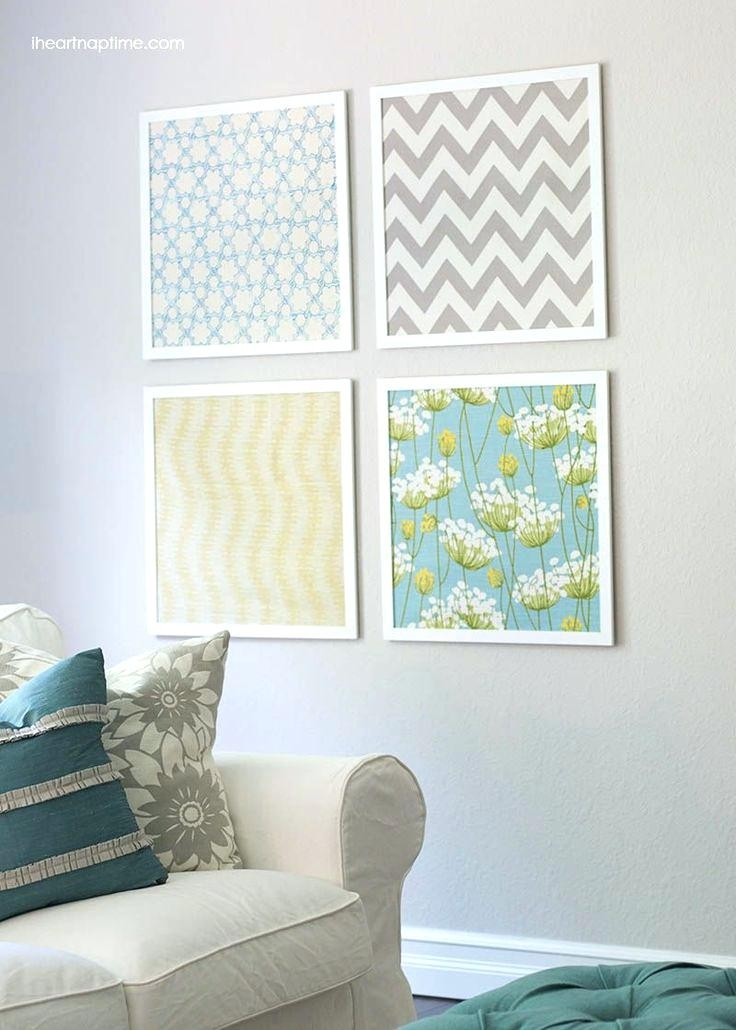 Fabric Wall Art Tutorial Time Faux Painting Wall Art Using Fabric Pertaining To Nursery Decor Fabric Wall Art (Image 7 of 15)