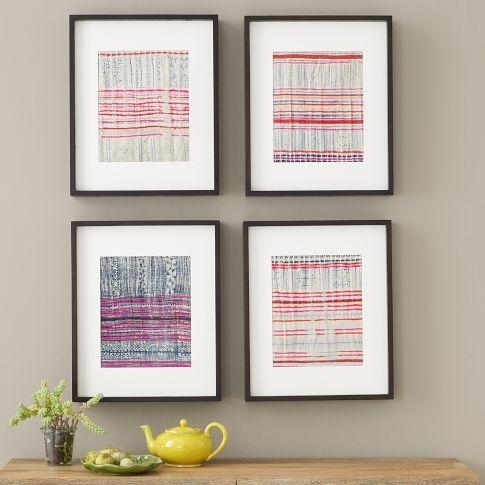 Fabric Wall Art – West Elm Pertaining To Framed Textile Wall Art (View 7 of 15)