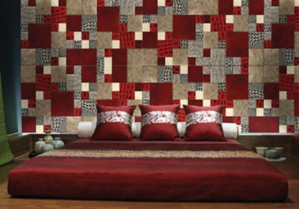 Fabric Wall Decoration Fabric Wall Decoration Wall Fabric Decor With Regard To Red Fabric Wall Art (Image 7 of 15)