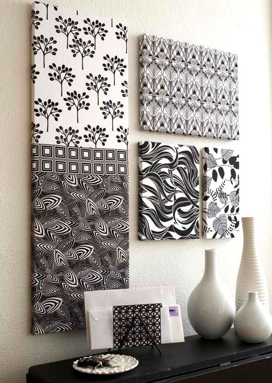Fabric Wall Decoration Inspiring Goodly Ideas About Fabric Wall For Fabric Covered Wall Art (View 10 of 15)