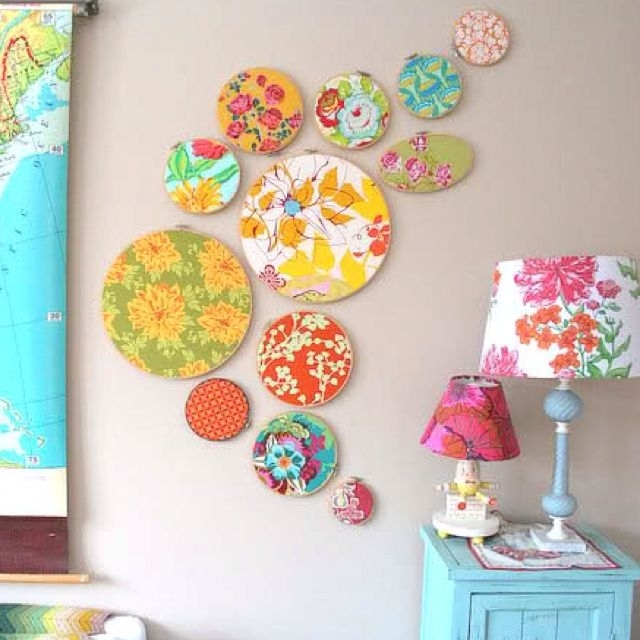 Fabric Wall Decoration Of Good Fabric Wall Decoration Decorating For Fabric Circle Wall Art (Image 12 of 15)