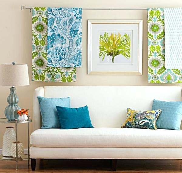 Fabric Wall Decoration – Simple Kitchen Detail With Fabric Wall Art Frames (Image 3 of 15)