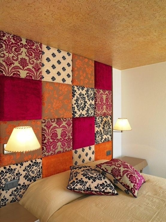 Fabric Wall Decoration With Nifty Ideas About Fabric Covered Walls Pertaining To Fabric Wrapped Wall Art (View 7 of 15)