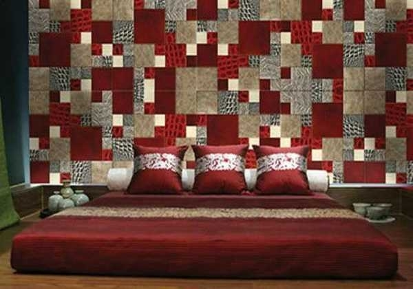 Fabric Wall Designs There Are More Patchwork Wall Decor Ideas Throughout Fabric Wall Accents (Image 8 of 15)