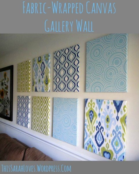 Fabric Wrapped Canvas Wall Gallery | Wrapped Canvas, Canvases And In Fabric Wrapped Wall Art (View 4 of 15)
