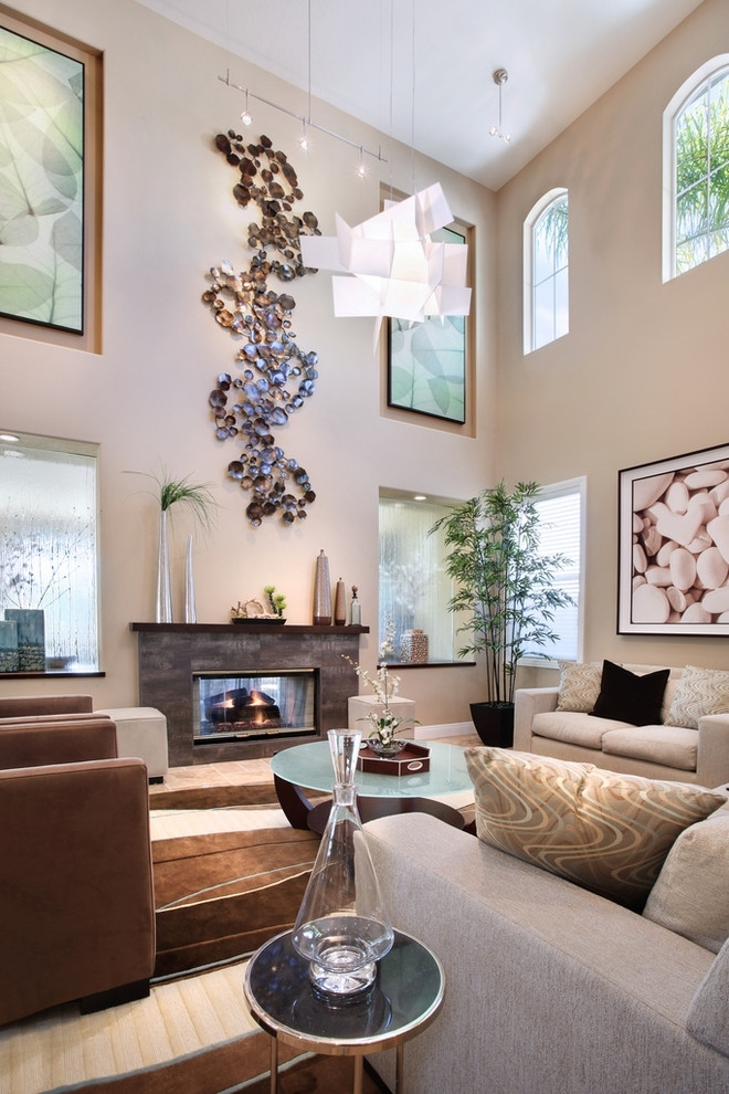 Fabulous Metal Wall Decorations Decorating Ideas Images In Living In High Ceiling Wall Accents (Image 2 of 15)