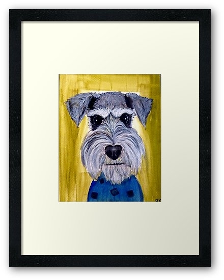 "Face Schnauzer Dog Art"" Framed Printssweetjay O 