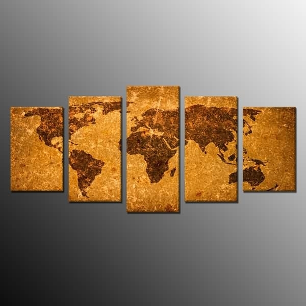 Factory Directly Supply Framedt Wall Art Decor Antique World Map In Ottawa Canvas Wall Art (View 9 of 15)