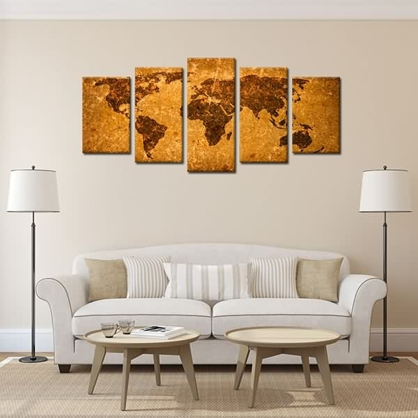 Factory Directly Supply Framedt Wall Art Decor Antique World Map With Ottawa Canvas Wall Art (View 7 of 15)