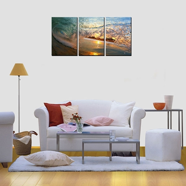 Factory Free Sample Framed Hd Photo Canvas Art Print Wave Wall Art Inside Malaysia Canvas Wall Art (View 10 of 15)