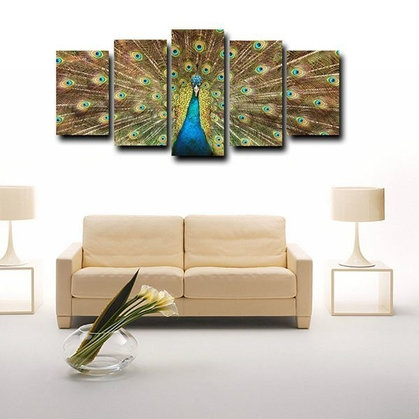 Factory Source Framed Canvas Print For Living Room Big Peacock Inside Johannesburg Canvas Wall Art (View 4 of 15)