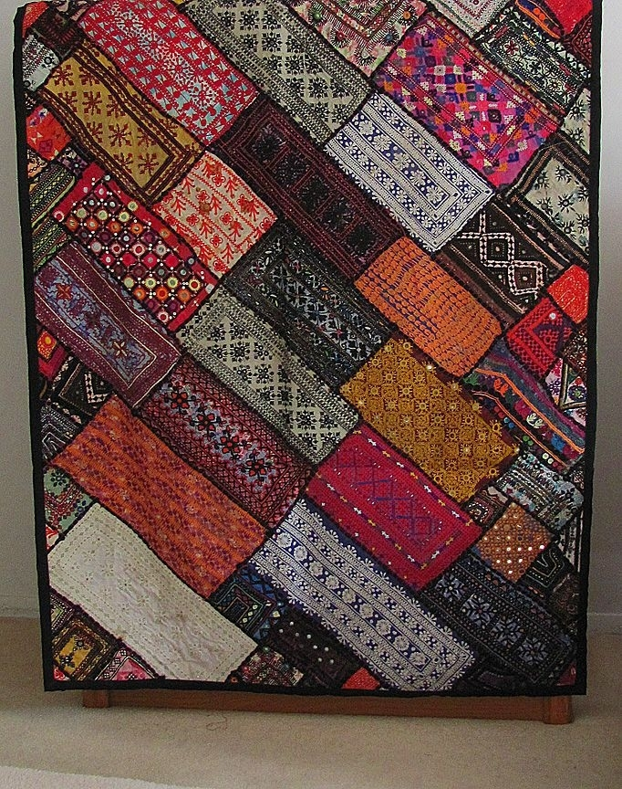 Fair Trade Kuchi Tapestry Wall Hanging. $99. (View 3 of 15)